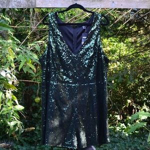 NWT Forever 21 3X Green Sequin Romper
